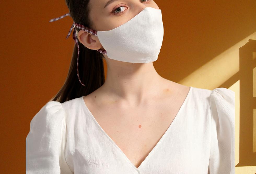 Linen Cotton Mask, Contoured Face Mask