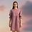 Thumbnail: Classic Cotton Dress, Eco-Friendly Pink Plaid Dress, Midi Dress, Scoop Neck