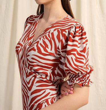 Linen Dress Orange