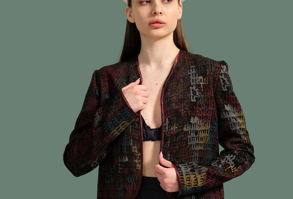 Eco-Friendly Cotton Quilted Jacket , Reversible Jacket