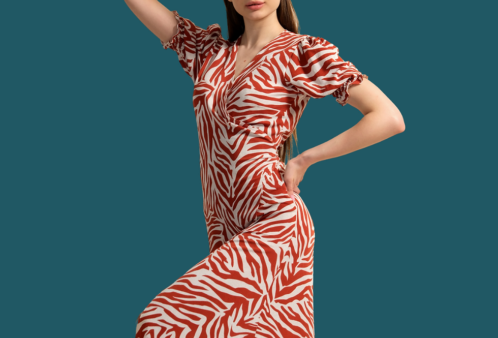 Linen Dressing Gown, Orange Linen Dress