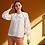 Thumbnail: White Cotton Shirt, Crew Neck Shirt, Women White Blouse, Organic Cotton Shirt
