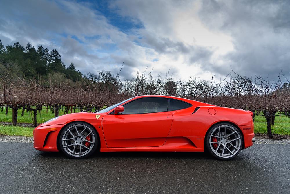 Ferrai, F430, red ferrari, red car