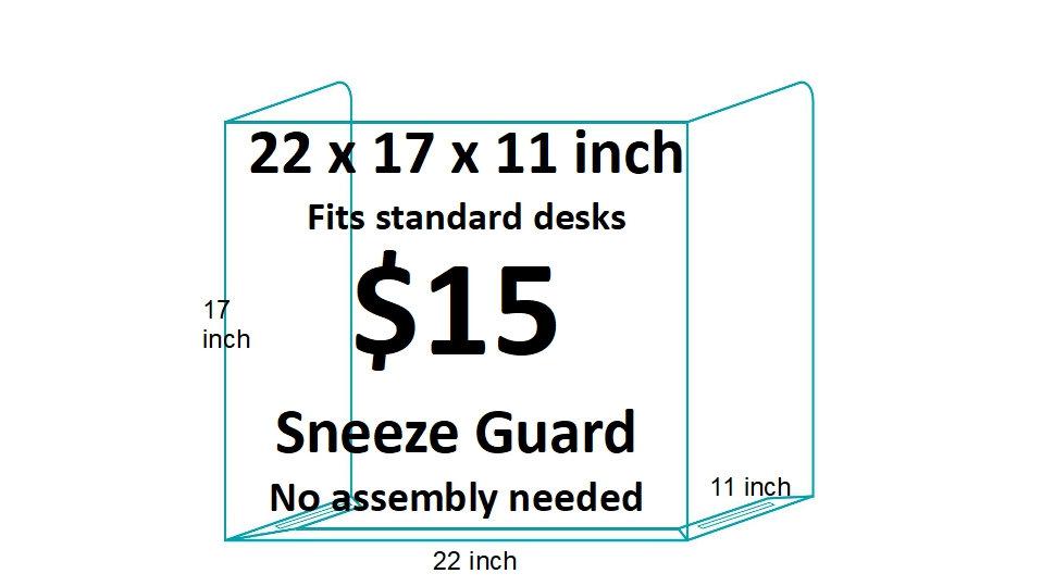 Classroom Sneeze Guard (30 pieces)
