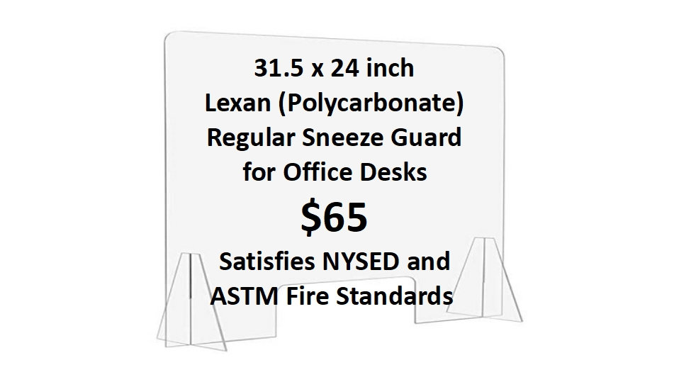 Office Sneeze Guard (10 units)