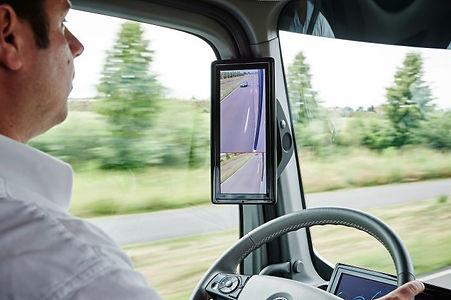 Bus mirror monitor