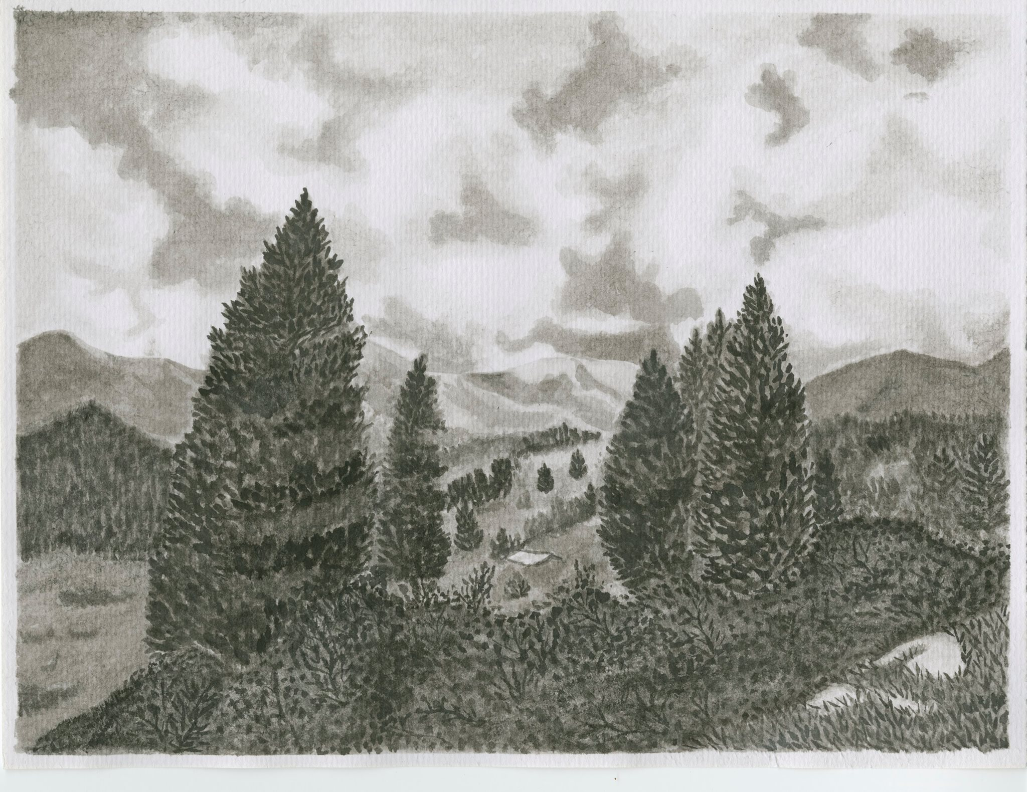 ink landscape project