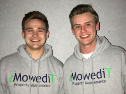 Joey Johnson and Alex Bly.iMowediT Owners.