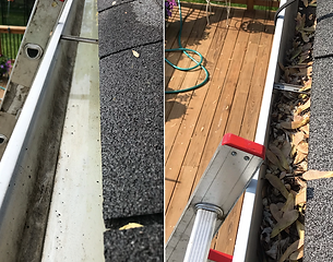 Gutter Cleaning in Coon Rapids, Minnesota.