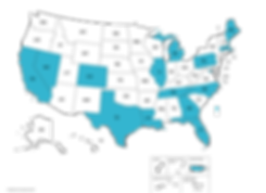 Map of States We've Volunteered In