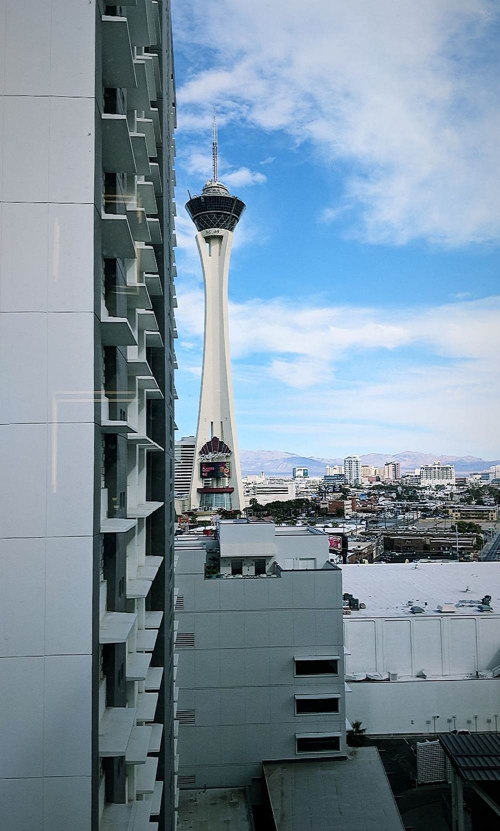 View from our room in the SLS Las Vegas.