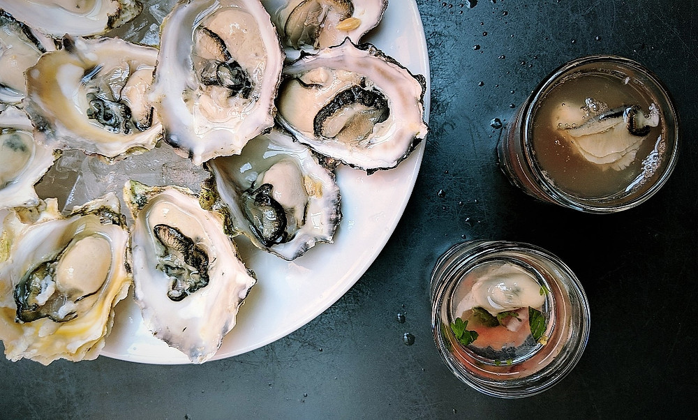 Oyster Shots from Ferris Grill in Victoria, British Columbia