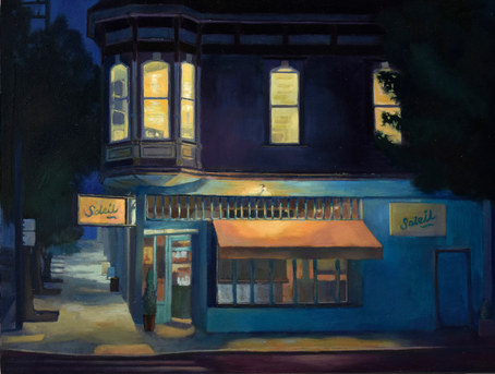 Night Scene of Cafe