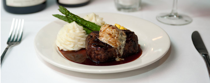 Filet with Stilton