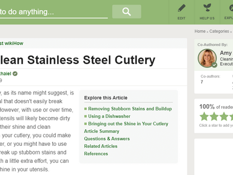 Cleaning Stainless Steel Cutlery