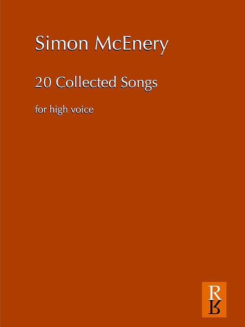 Simon McEnery: 20 Collected Songs (high or medium/low)
