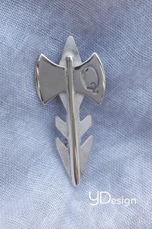 Zilveren broche naar persoonlijk ontwerp