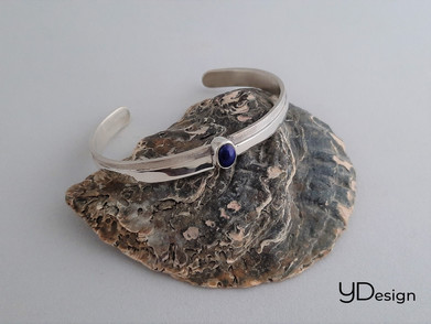Zilveren armband met lapis lazui