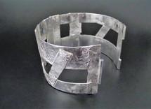 Robuuste zilveren armband