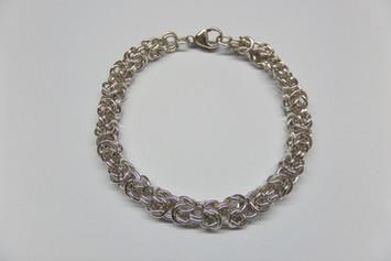 Zilveren armband Koningsschakel