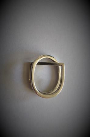 Zilveren dubbele ring