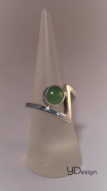 Zilveren ring met aventurijn