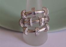 Robuuste zilveren ring