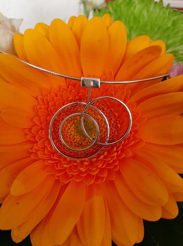 Zilveren hanger Inner Circle