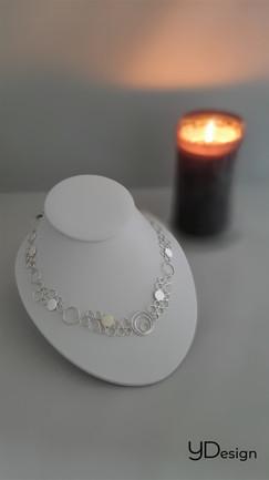 Zilveren ringetjes collier