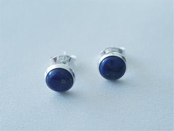 Zilveren oorstekers met Lapis Lazuli