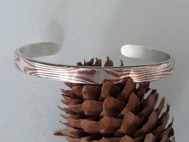 Armband Mokume Gane zilver en koper