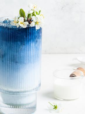 Blue Beauty Latte Recipe with Butterfly Pea Tea & Blue Spirulina