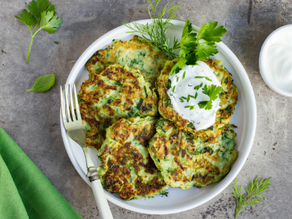 Delicious Gluten Free & Dairy Free Zucchini Fritters | Follicular Phase Recipe