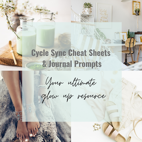 Cycle Sync Cheat Sheets & Journal Prompts