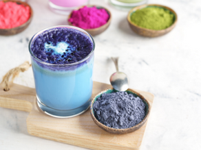 Blue Beauty Latte Recipe with Butterfly Pea Tea & Blue Spirulina