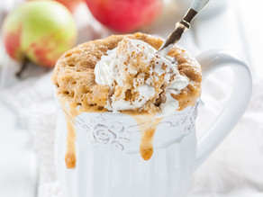 Super Simple Apple Cinnamon Mug Cake Recipe