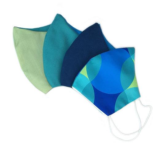 Kit máscara azul