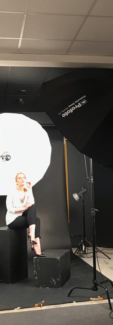 Fotomokymai studijoje, modelis Algimantė Grinevičiutė