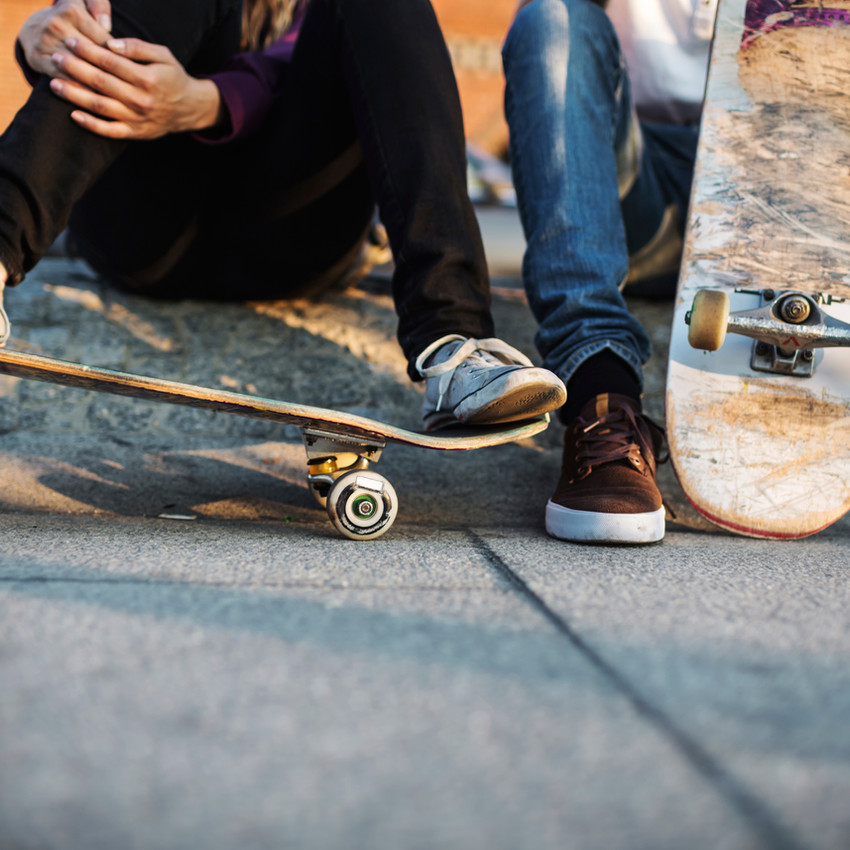 Young Skater Relaxing