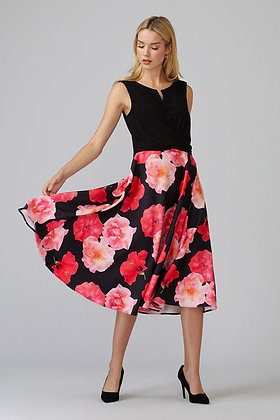 Floral full skirt dress