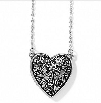 Brighton Moonlight Garden Heart Necklace