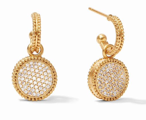 Julie Vos Fleu-de-Lei hoop and charm earring