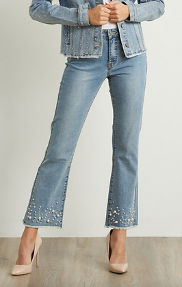 JOSEPH RIBKOFF Pearl Detail Jeans