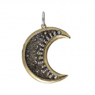 Waxing Poetic  Moonshadow Pendant - Medium