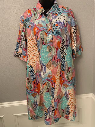 ABSTRACT A LINE DRESS