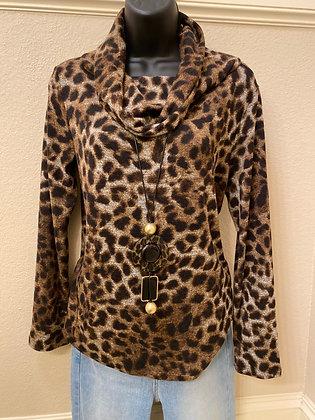 Leopard Cowl Neck Top