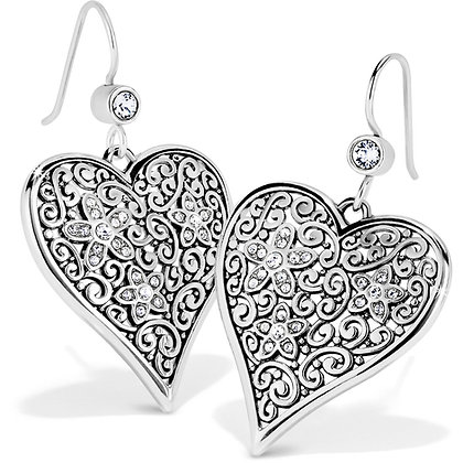 BRIGHTON Baroness Fiori Heart French Wire Earrings