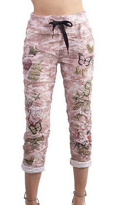 Butterfly camo pant pink