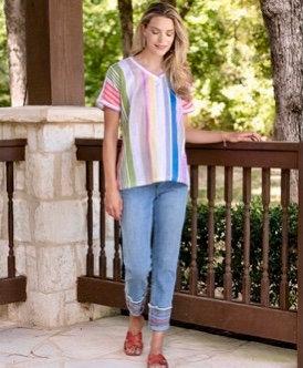 Stripe Pullover Top