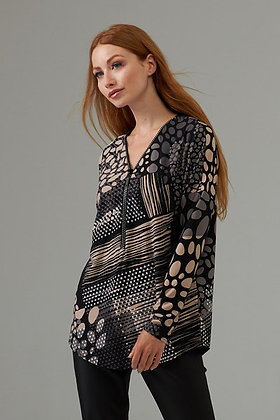Joseph Ribkoff Front Zip Dotted Top